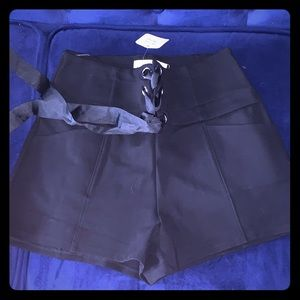 Lush Shorts - NEW WITH TAGS Black Ribbon shorts ! Unique chic